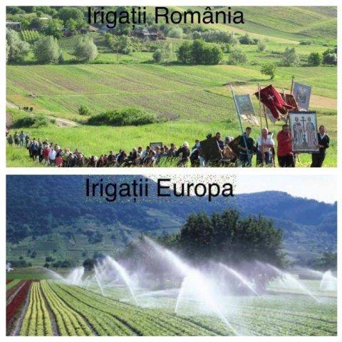 Irigații in România vs.irigații în Europa