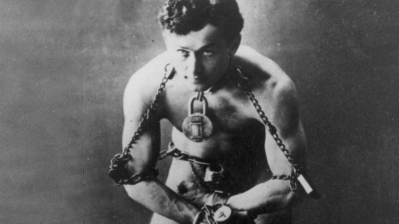 Image result for magicianul harry houdini