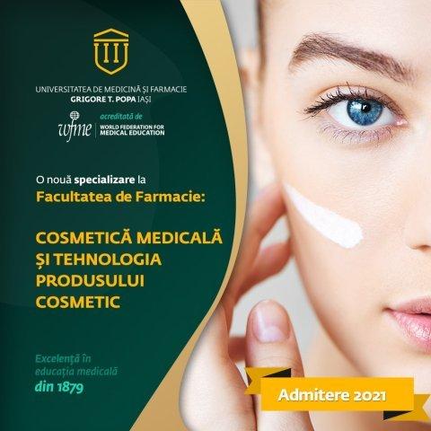 Program inedit la admitere la UMF cu locuri la buget: Cosmetica medicală