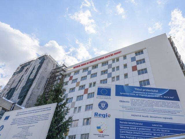 FOTO: Cel mai mare corp al Spitalului de Copii, renovat. Luna viitoare va primi pacienți