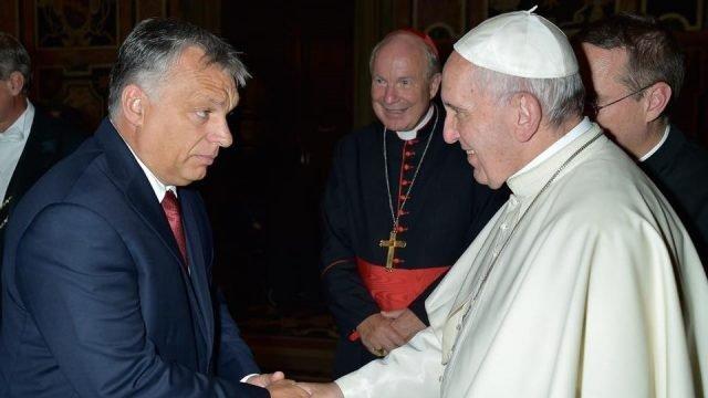 Papa Francisc s-a întâlnit la Budapesta cu prim-ministrul Viktor Orban