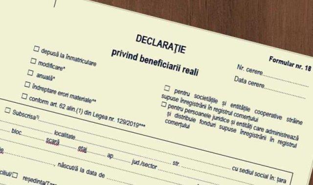 Angajament ratat: declaraţia de beneficiar real trebuie depusă până la 1 octombrie