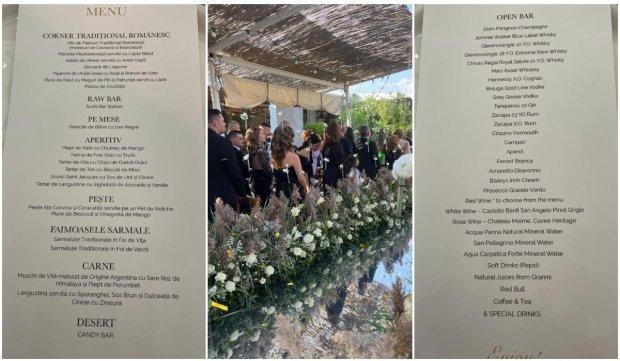 Ce include meniul la nunta Simonei Halep. A fost amenjat și un candy bar