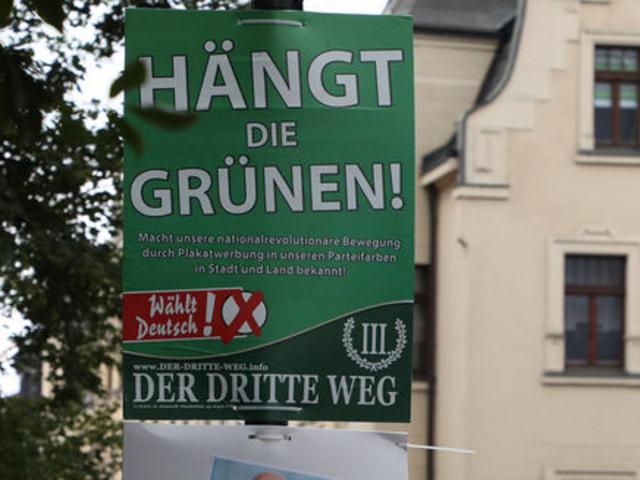 """Campanie a grupării neonaziste """"A III-a Cale"""" în Germania: """"Spânzuraţi-i pe Verzi!"""","""