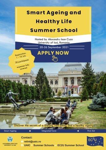 Şcoală de vară internaţională la Iaşi. Smart Ageing and Healthy Life