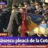VIDEO Traian Basescu a sarutat drapelul la plecarea de la Cotroceni