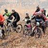 IMAGINI (ROŢI PE GHEAŢĂ): Zeci de biciclişti s-au întrecut în pădurea de la Ciric