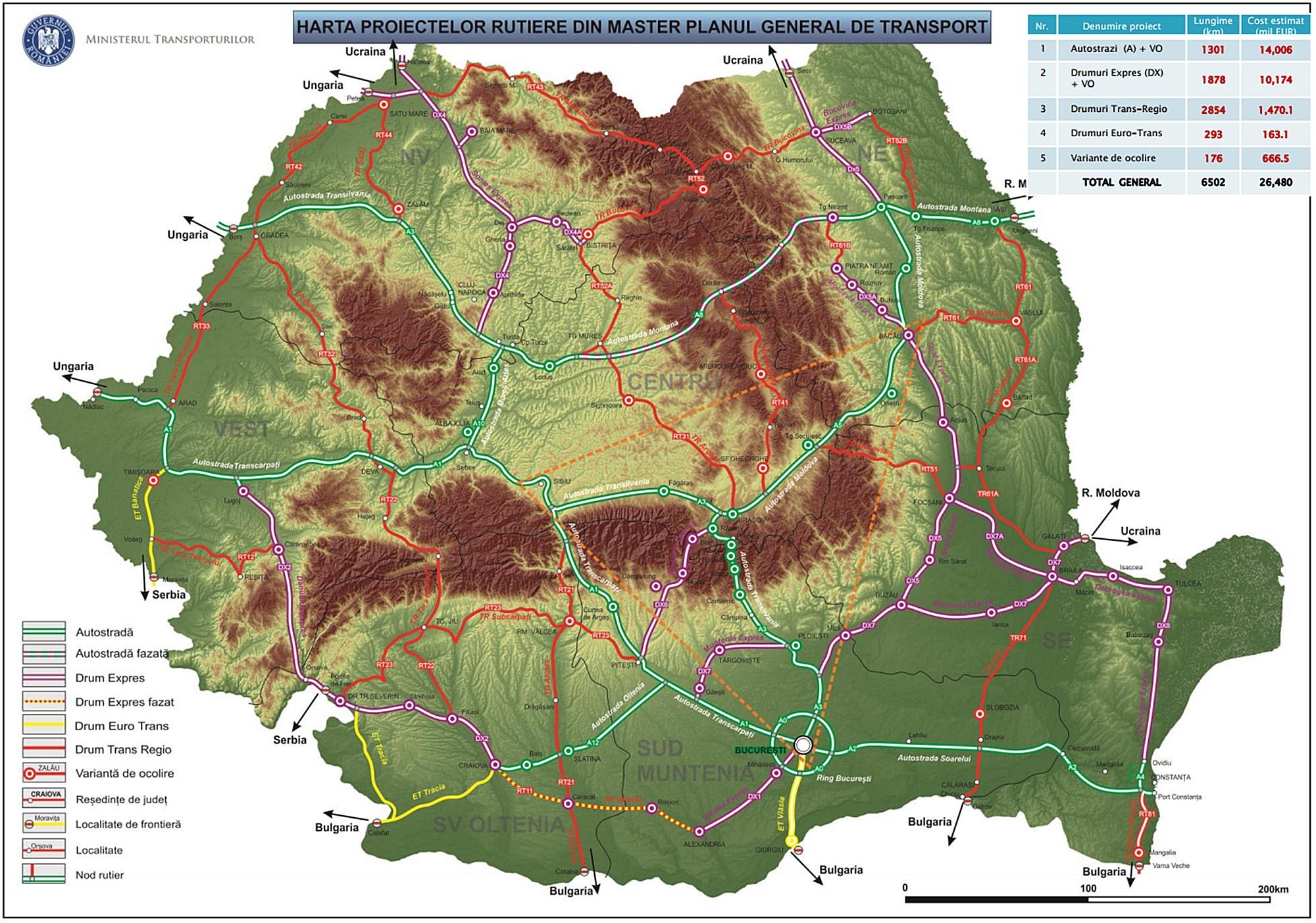 Vezi Harta O Nouă Formă A Masterplanului Noi Autostrăzi Bacau